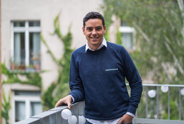 New CTPO Leandro Loiacono on a balcony in the office